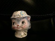 Vintage 1950s LEFTON Miss Priss Kitty Salt  by HolySerendipity