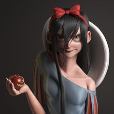 Snow White - Happy Halloween, Gilberto Ribeiro on ArtStation at https://www.artstation.com/artwork/kObbA