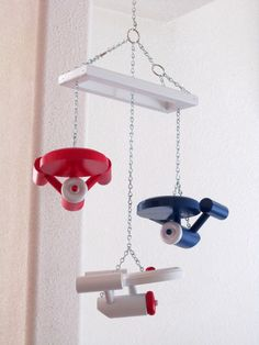 USS Starship Enterprise Ceiling Mobile Star Trek by RaysScraps