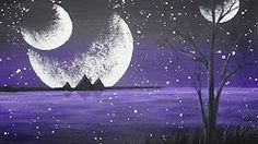painting with acrylics moon - YouTube