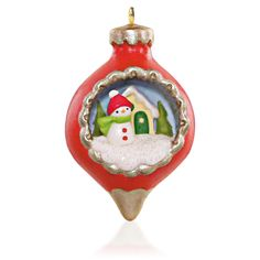 A new series of mini ornaments with a festive scene inside kicked off with this 2015 ornament.