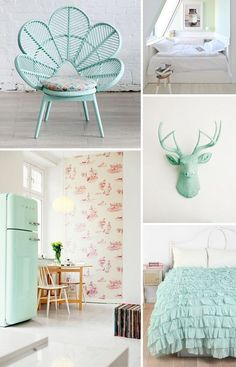 mint color in the interiors 35 trendy ideas digsdigs mint bedroom decorpastel - Mint Green Bedroom Decorating Ideas