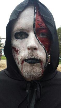 Josh's 2013 zipper face halloween costume!