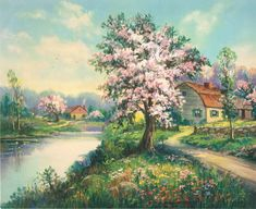 A Petaled Countryside Calendar Art by RedfordRetro on Etsy, $10.00