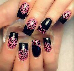 Negro y rosa.