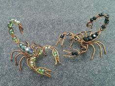 Wire scorpion - con bò cạp - Halloween jewelry idea 270