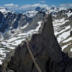 The via ferrata at Mt. Nimbus is an exciting day-trip for guests of the helicopter-access-only CMH Bobbie Burns Lodge in BC. Want to discover more via ferratas in Canada? Click the link in our bio. : Gery Unterasinger courtesy of CMH Heli-Skiing & Summer Adventures #viaferrata #greatoutdoors #ohcanada #explorecanada #adventureready