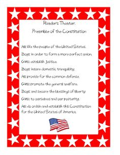 Constitution Day preamble choral reading