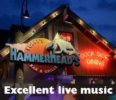 Excellent live music at Poppy's Hammerheads Bar  Grille in Destin, Florida