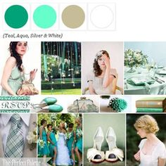 The Perfect Palette: {A Summer Wedding in the Country}: A Palette of Blues