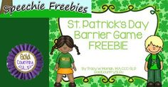 St. Patrick's Day Barrier Speech and Language Game - pinned by @PediaStaff – Please Visit  ht.ly/63sNt for all our pediatric therapy pins