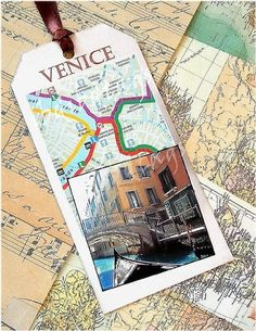 Items similar to Venice travel style tags, 6 tags on Etsy - Great way to add interest to a travel scrapbook. Travel Scrapbook Pages, Vacation Scrapbook, Scrapbook Paper, Scrapbook Titles, Scrapbook Journal, Travelers Notebook, Travel Photography Tumblr, Travel Maps, Travel Journals