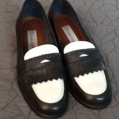 HOST PICK Etienne Aigner blue & White Loafers Almost new vintage Etienne Aigner navy blue and white penny loafers. Etienne Aigner Shoes Flats & Loafers