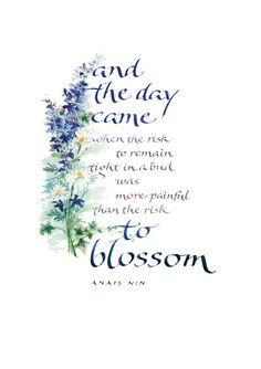 Blossom I ~::~Judy Dodds, Penscriptions Calligraphy