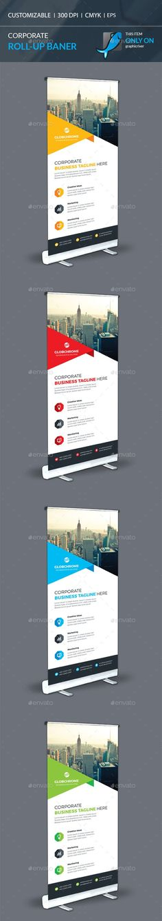 Corporate Roll-Up Template Vector EPS, AI. Download here: graphicriver.net/...