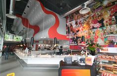 Samsi restaurant, Manchester Spinningfields, features a giant   sculptural ceiling towering above the belt   Phillip Watts Design