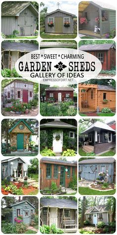 Gallery of best garden sheds. It is important in life to have goals. One of mine is to have a shed.  I know - very impressive, but if you dream it, you can achieve it! #diysheds