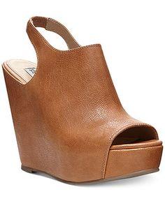 Steve Madden Women's Blassst Platform Sandals synthetic cognac, black 4.5h (59.99) NA