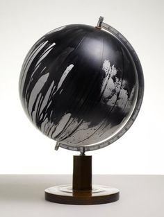 Silent Night 14 by Kendell Geers via Stephen Friedman Gallery, London Art Globe, Painted Globe, World Globes, Inspirational Artwork, Silent Night, Installation Art, Art Installations, Online Art, Sculpture Art