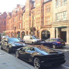Lamborghini on Mount Street