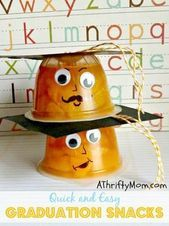 Kindergarten Graduation Snacks ~ Healthy and Fun - A Thrifty Mom - Recipes, Crafts, DIY and Graduation Treats, Pre K Graduation, Kindergarten Graduation, Graduation Celebration, In Kindergarten, Grad Gifts, Preschool Graduation Gifts, Graduation Theme, End Of School Year