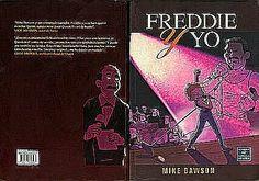 Esta es  la portada y contraportada de este libro grafico sobre la biografia de freddie