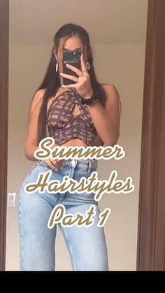 Easy Hairstyles For Long Hair, Summer Hairstyles, Cute Hairstyles, Heatless Hairstyles, School Hairstyles, Hairdos, Hairstyle Ideas, Medium Hair Styles, Curly Hair Styles