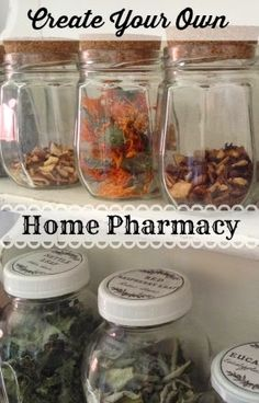 Make Your Own Natural Medicine Cabinet. I love this website...so many good ideas & Christian to boot.
