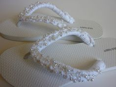 Pearly flip flops (sue let's make for Nita}