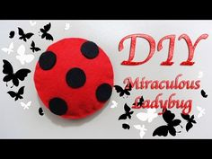 MIRACULOUS LADYBUG | MIRACULOUS / AMULETO ENCANTANDO / LUCKY CHARM | COMO HACER | DIY - YuureYCrafts Halloween 2018, Fall Halloween, Ladybug Crafts, Little Fashionista, Surprise Gifts, Felt Dolls, Lucky Charm, Ladybugs, Miraculous Ladybug