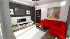 A small flat for a single. Couch, Flat, Furniture, Design, Home Decor, Projects, Settee, Bass, Decoration Home