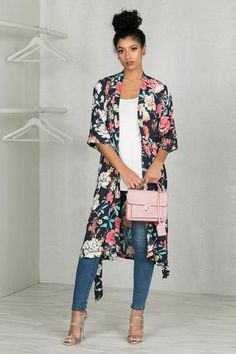 Super style casual outfits ideas for spring summer fashion trendy outfits 2019 Summer Fashion Outfits, Chic Outfits, Spring Summer Fashion, Spring Outfits, Trendy Outfits, Autumn Fashion, Style Summer, Kimono Outfit, Kimono Fashion