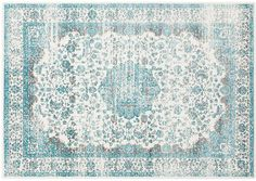 Blending punchy color, tropical motifs, and traditional accents, this relaxed look is perfect for special occasions and weeknight dinners alike. Teal Rug, Fluffy Rug, Geometric Rug, White Rug, Beach Cottages, Traditional Rugs, One Kings Lane, Carpet Runner, Woven Rug