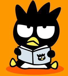 Badtz Maru reading