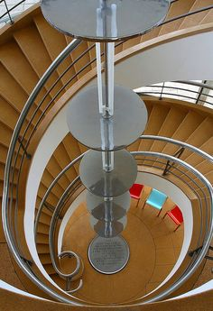 Spiral Staircase at De La Warr pavillion, Bexhill on Sea, East Sussex   by nick.emmons, via Flickr