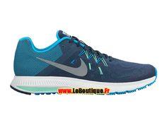 Nike Zoom Winflo 2 Flash - Chaussure de Running Nike Pas Cher Pour Homme Bleu escadron/Bleu lagon/Vert rayonnant/Argent réfléchissant 807277-400