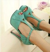 Image of [grdxyxh319150]sweet elegant high-heeled shoes sandal Slugged bottom