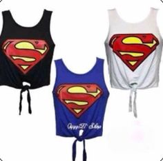 Superman shirts ❤ love the black and blue one :-)