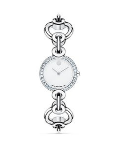 Movado Circlo® Stainless Steel Watch With Diamonds, 23.5 mm | Bloomingdale's
