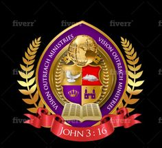 Create your new church seal logo from scratch by Oskingsconxept Seal Logo, Logo Design Services, Coat Of Arms, Badge, Create Yourself, Concept, Logos, Lovers Quotes, Family Crest