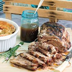 If you don't own an instant read thermometer, it's worth purchasing one for this recipe. Cooking this budget-friendly roast to between 180° and 185° ensures incredibly tender slices for a pretty presentation.