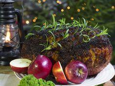 Griljeringsröra till julskinka | Recept.nu 20 Min, Plum, Vegetarian, Tasty, Apple, Fruit, Christmas Recipes, Food, Essen