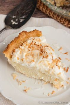 The Ultimate Coconut Pie. Going to attempt this for the Mr. ... wish me luck!