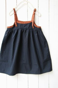 Make this dress with denim and leather straps.