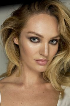 Candice Swanepoel at Diane Von Furstenberg. Go close-up on the hair and make-up looks from the biggest spring/summer 2015 shows here.