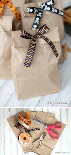 Easy DIY Favors for Kids Party | Crafty Little Treat Bags by DIY Ready at http://diyready.com/best-kids-party-ideas/