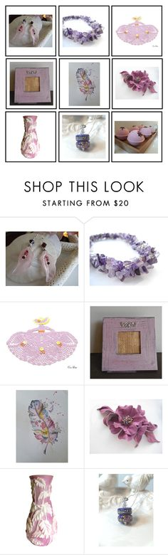 """Lavender set"" by keepsakedesignbycmm ❤ liked on Polyvore featuring jewelry, homedecor and gifts"