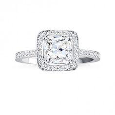 Platinum pavé Canadian diamond engagement ring - Engagement Ring - Bridal - Hers