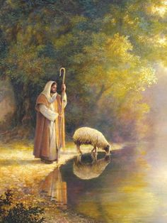 Picture Peddler The Good Shepherd by Greg Olsen Religious Jesus Print Poster Lord Is My Shepherd, The Good Shepherd, Greg Olsen Art, Image Jesus, Munier, Pictures Of Jesus Christ, Lds Art, Jesus Christus, Jesus Art