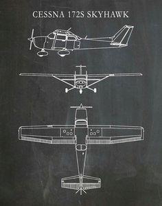 Cessna 172 Skyhawk Drawing – Airplane Art Print – Poster – Aviation Art – Aviation Decor – Pilot Art – Aviation School Art – Vehicles is art Airplane Painting, Airplane Drawing, Airplane Art, Pilot Tattoo, Plane Tattoo, Aviation Tattoo, Cessna Aircraft, Aviation Decor, Cessna 172